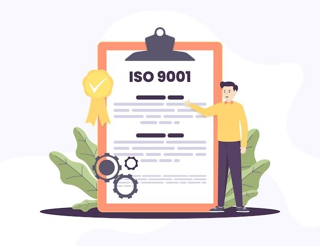 Iso 9001 zertifizierung und charakter