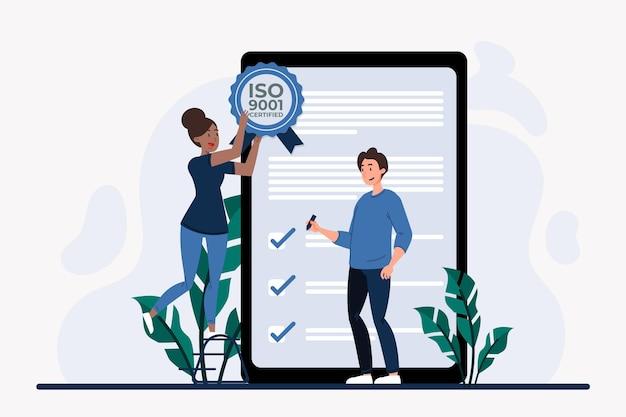 Iso 9001 zertifizierung und prüfungen