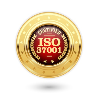 Iso-zertifizierte medaille - anti-bestechungs-managementsysteme