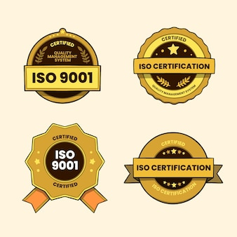 Iso-zertifizierungsausweispaket