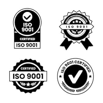 Iso-zertifizierungsstempelpaket