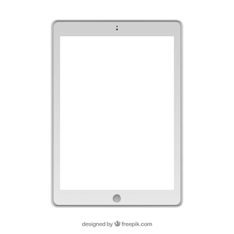Isolated white tablet-design