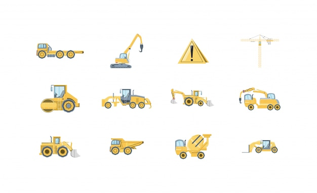 Isolierte bau icon set