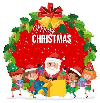 Isolierte frohe weihnachten banner
