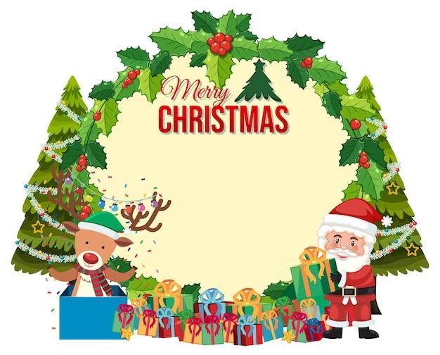 Isolierte frohe weihnachten grußkarte