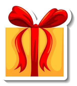 Isolierte geschenkbox-aufkleber