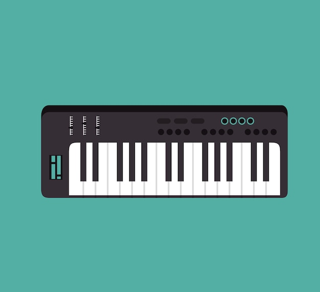 Isolierte ikone des klaviers instrument