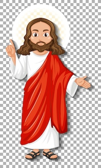 Isolierte jesus-zeichentrickfigur