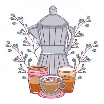 Isolierte kaffeemaschine