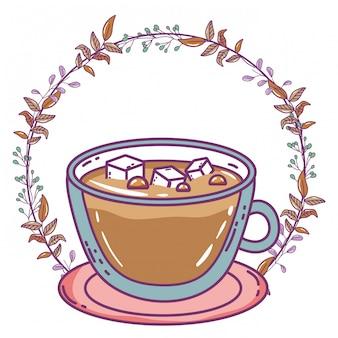 Isolierte kaffeetasse