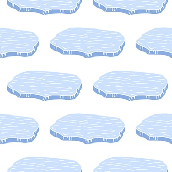 Isolierte karikaturblau-antarktis-eisschollenschattenbilder.