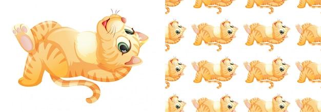 Isolierte katze muster cartoon