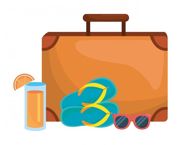 Isolierte koffer und reisen