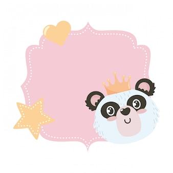 Isolierte panda-cartoon