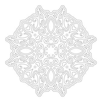 Isolierte schöne monochrome vektor-illustration für valentinstag malbuch seite mit herzformen