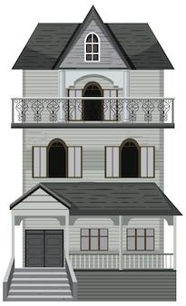 Isolierte spukhausfassade