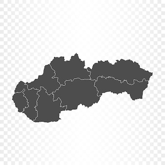 Isolierte wiedergabe der slowakei-karte