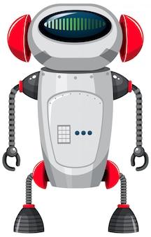 Isolierter roboter auf weißem hintergrund