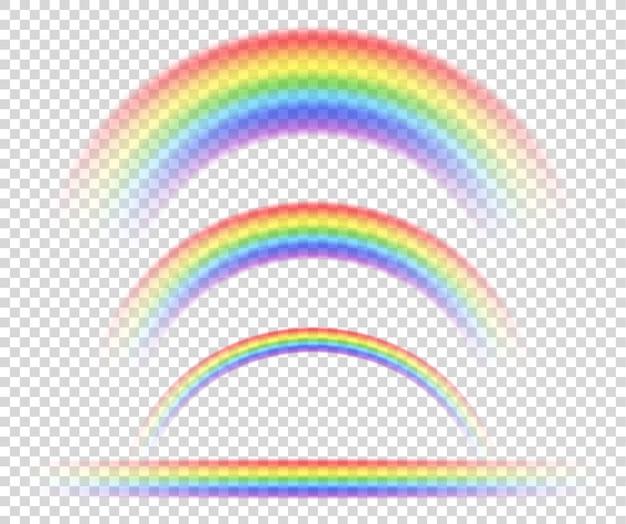 Isoliertes regenbogenobjekt, auf transparentem hintergrund, symbol der sexuellen minderheiten.