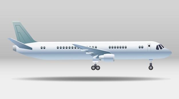 Isoliertes symbol des weißen flugzeugtransports