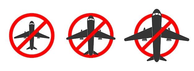 Isoliertes zeichen des flugverbots