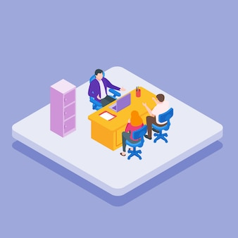 Isometric ceo-büro