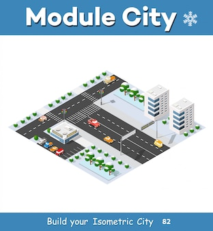Isometrie der modernen stadt