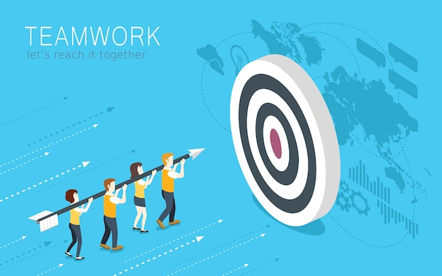 Isometrie des teamwork-konzepts