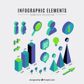 Isometris infographic elemente