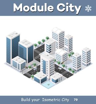 Isometrisch der modernen stadt