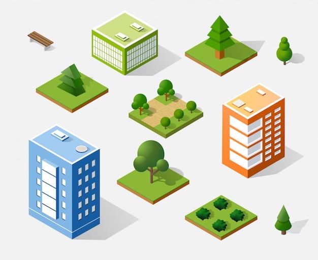 Isometrische 3d bäume