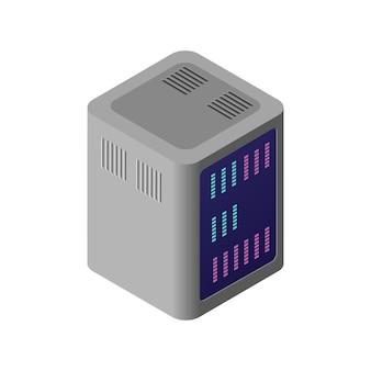 Isometrische 3d-computer