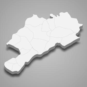 Isometrische 3d-karte von afyonkarahisar ist eine provinz der türkei