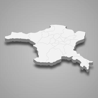 Isometrische 3d-karte von ankara ist eine provinz der türkei
