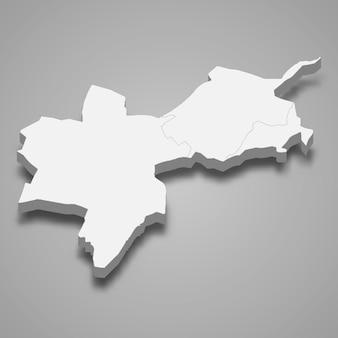Isometrische 3d-karte von basel-stadt ist ein kanton der schweiz
