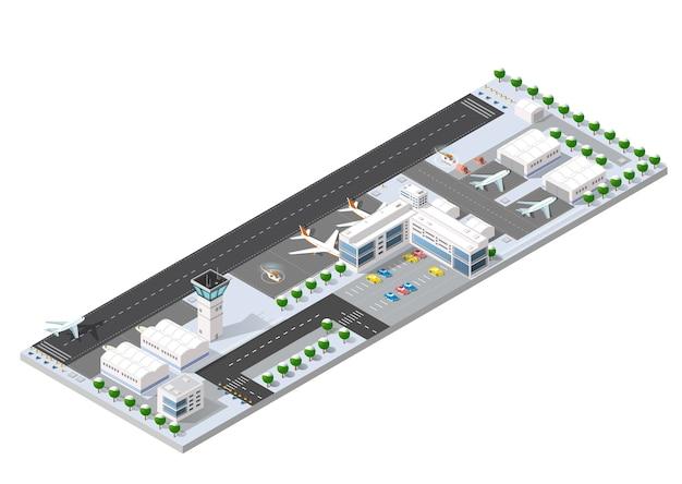 Isometrische 3d-landebahn