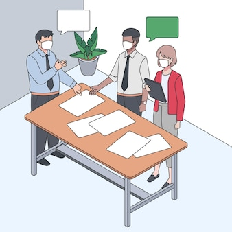 Isometrische arbeitstagillustration