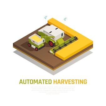 Isometrische automatisierte ernte