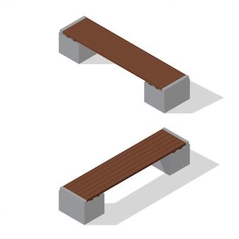 Isometrische bänke eingestellt