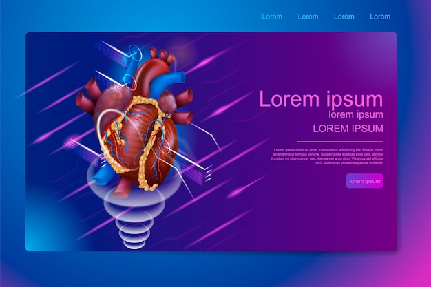 Isometrische banner erweiterte realität in der medizin