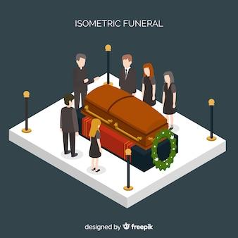 Isometrische begräbniszeremonie