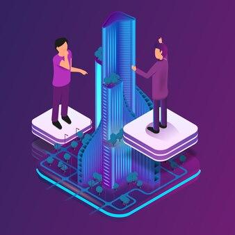 Isometrische bild-erweiterte realität für architekten