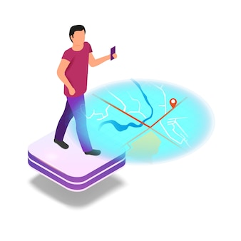 Isometrische bildprogrammierung in augmented reality