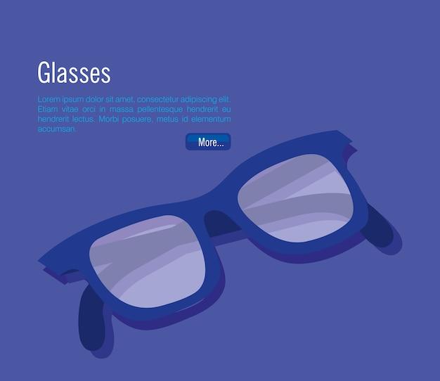 Isometrische brillen zubehör symbol