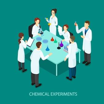 Isometrische chemische forschungsvorlage