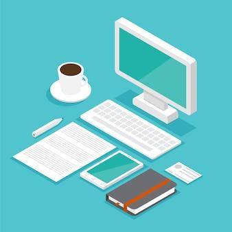 Isometrische desktop festlegen