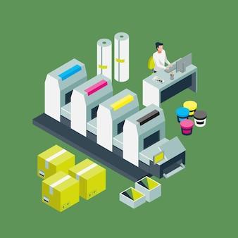 Isometrische druckindustrie