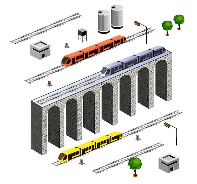 Isometrische eisenbahn