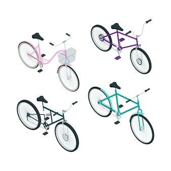 Isometrische fahrräder.