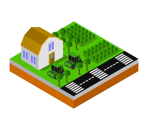 Isometrische farm